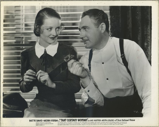 Bette Davis and Ian Hunter in That Certain Woman
