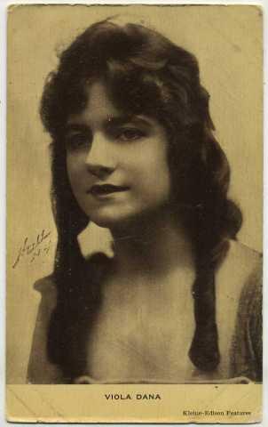 Viola Dana early 1910s Postcard
