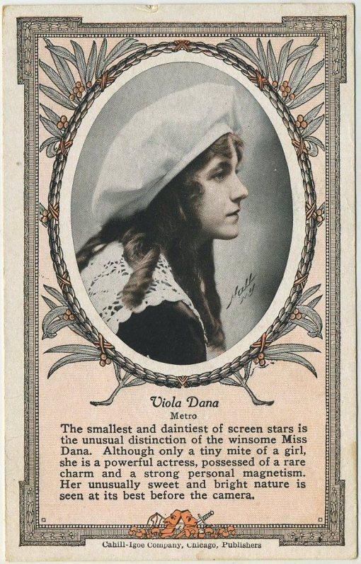 Viola Dana 1915 Cahill Igoe Schedule Card