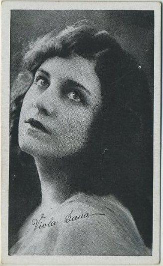 Viola Dana 1917 Kromo Gravure Trading Card