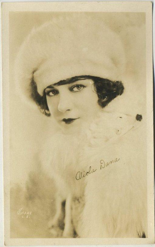 Viola Dana 1920s AZO Postcard