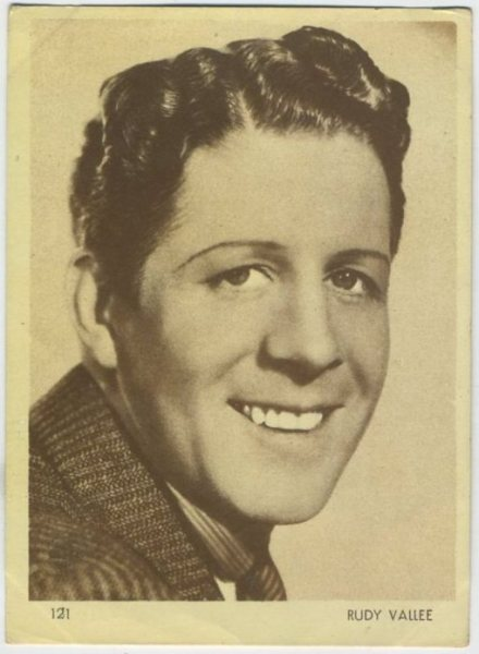 Rudy Vallee 1930s Aguila Chocolates Trading Card
