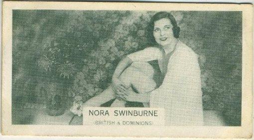 Nora Swinburne 1934 Ardath British Born Film Stars