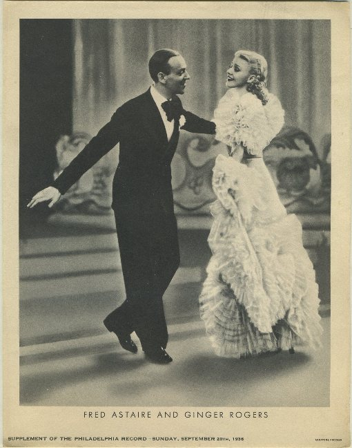 Fred Astaire and Ginger Rogers Philadelphia Record Supplement