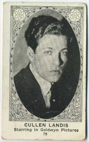 Cullen Landis American Caramel trading card