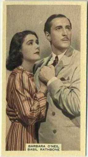 Barbara ONeil and Basil Rathbone 1939 A and M Wix