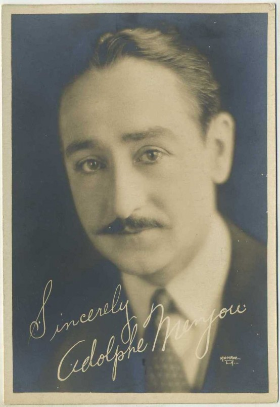 Adolphe Menjou 1920s Fan Photo