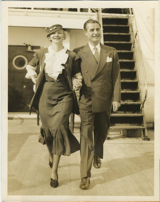 Virginia Bruce and John Gilbert MGM Promotional Photo