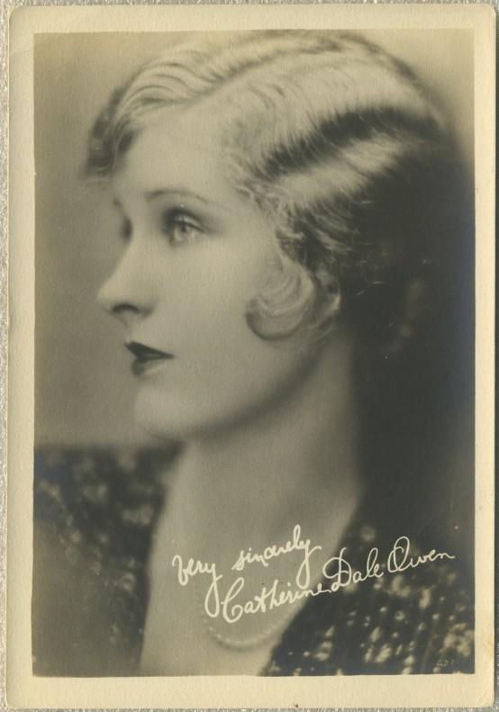Catherine Dale Owen 1920s Fan Photo