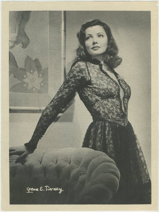 Gene Tierney 1946 Motion Picture Magazine Premium