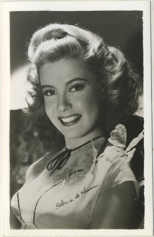 Gloria DeHaven 1940s EKC Postcard