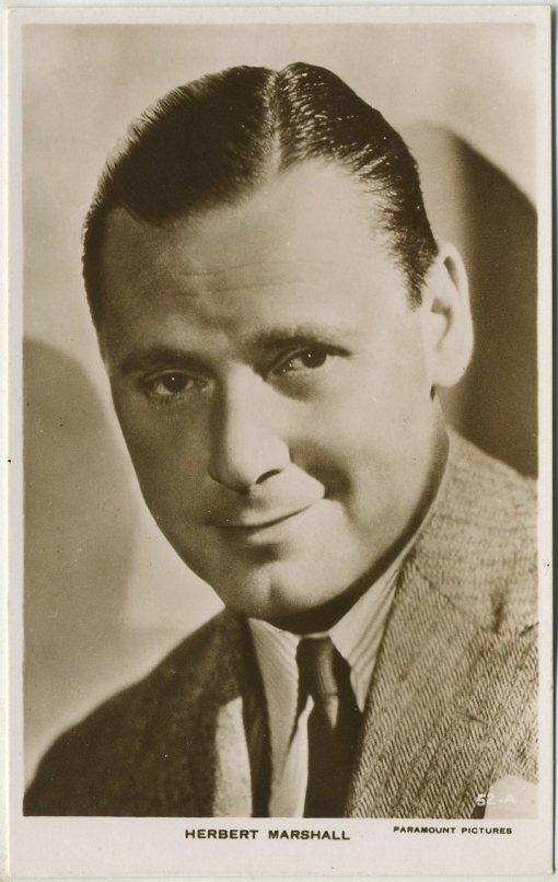 Herbert Marshall 1930s Picturegoer Postcard