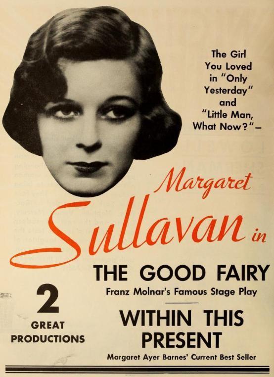 Margaret Sullavan in The Good Fairy trade ad