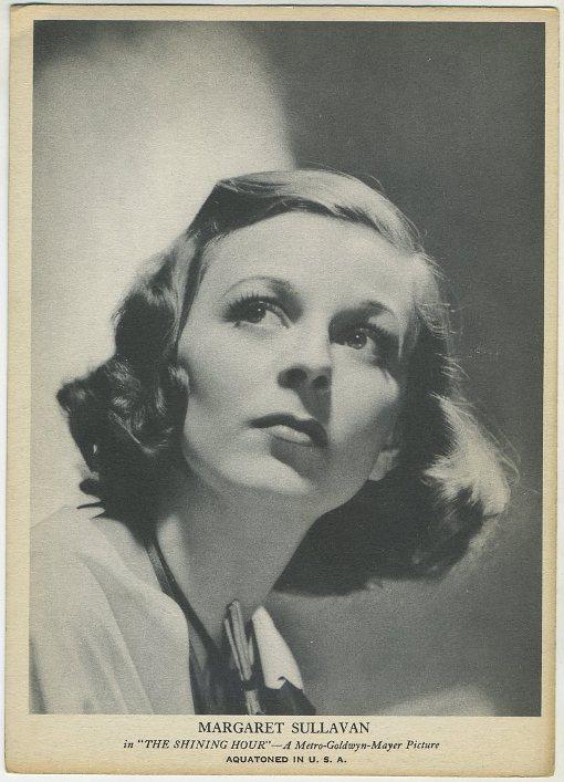 Margaret Sullavan 1939 R96 5x7 Trading Card