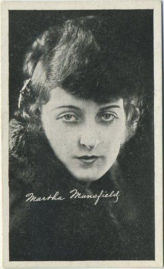 Martha Mansfield 1917-20 Kromo Gravure Trading Card