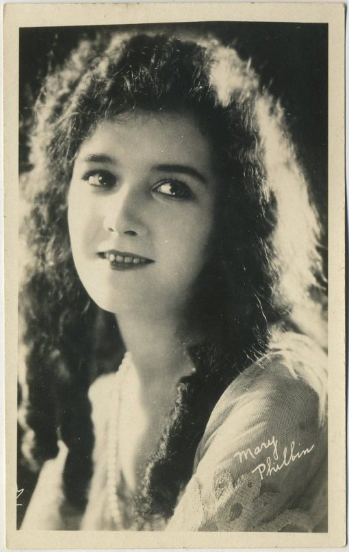 Mary Philbin 1920s AZO Postcard