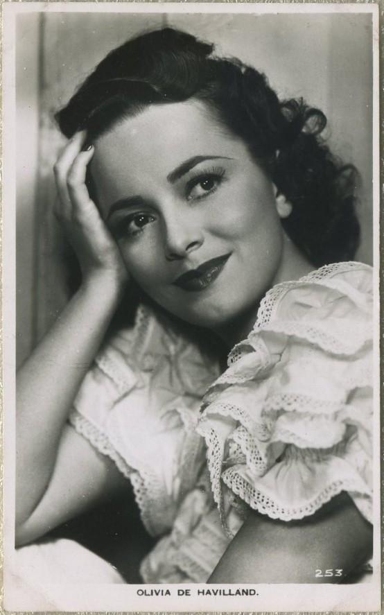 Olivia de Havilland Picturegoer Postcard