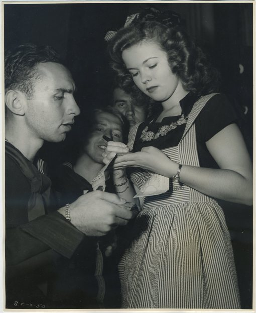 Shirley Temple autographs short snorter