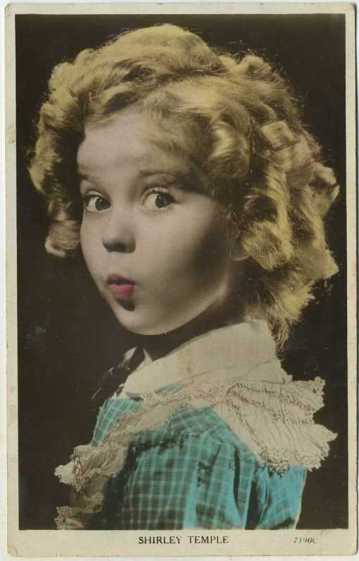Shirley Temple Art Photo Postcard