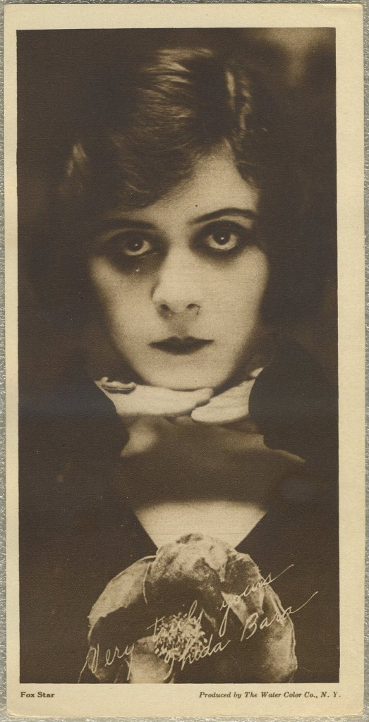 Theda Bara Water Color Premium Photo