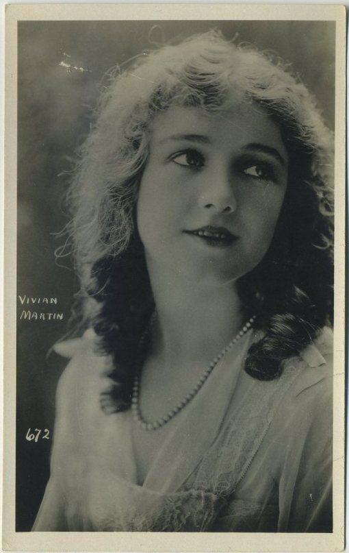 Vivian Martin 1920s AZO Postcard