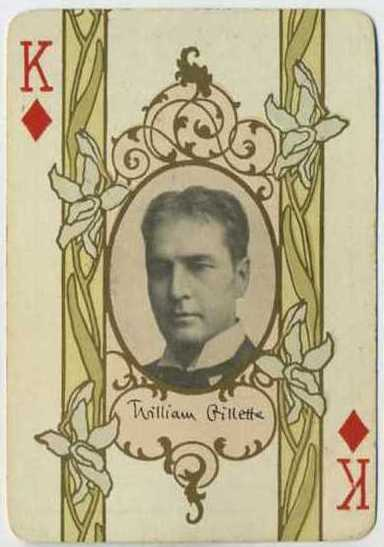 William Gillette 1908 Playing Card