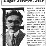 Clippings: Edgar Selwyn
