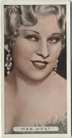 Mae West 1934 Ardath Famous Film Stars