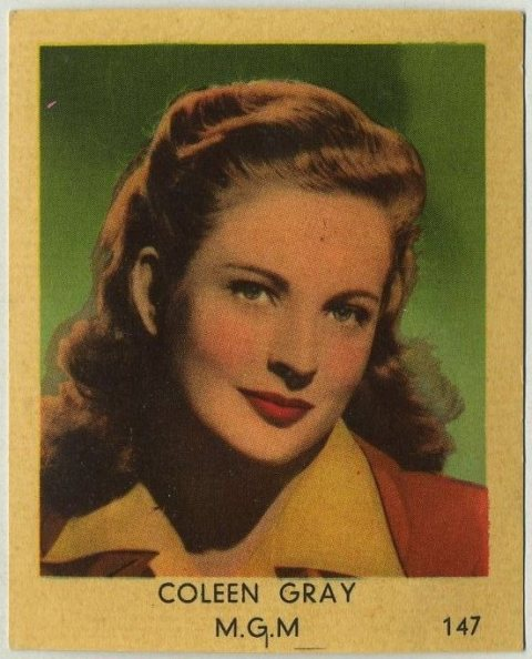 Coleen Gray 1954 VAL Gum Trading Card from Holland