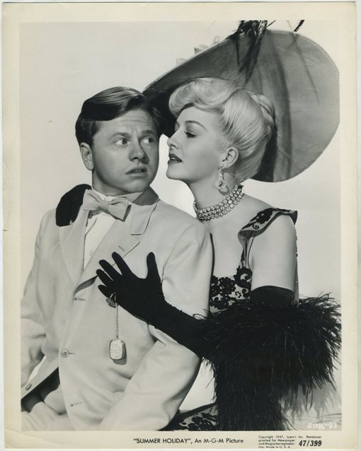 Mickey Rooney and Marilyn Maxwell in Summer Holiday