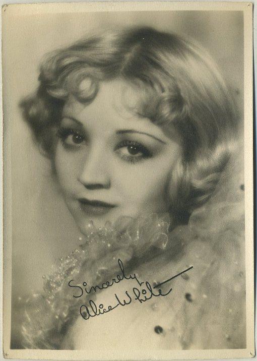 Alice White 1930s Fan Photo