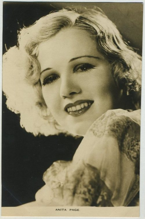 Anita Page 1930s Film Weekly Postcard