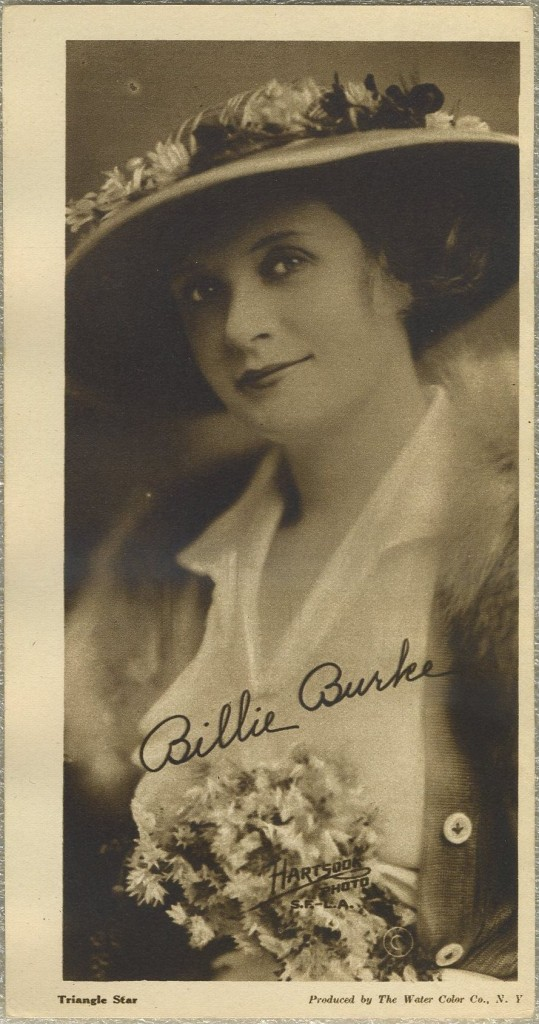 Billie Burke 1916 Water Color Company Premium