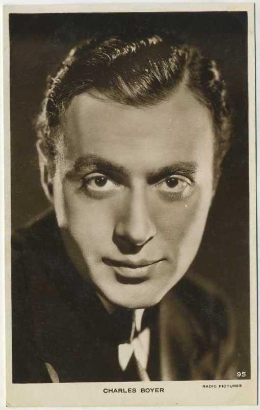 Charles Boyer Milton Postcard