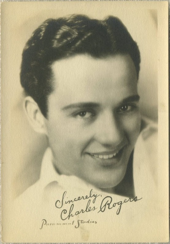 Charles Buddy Rogers 1920s Fan Photo