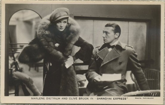 Marlene Dietrich and Clive Brook in Shanghai Express
