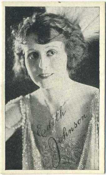 Edith Johnson Kromo Gravure Card