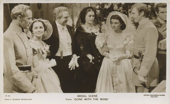 Gone With the Wind Bridal Scene Picturegoer Postcard