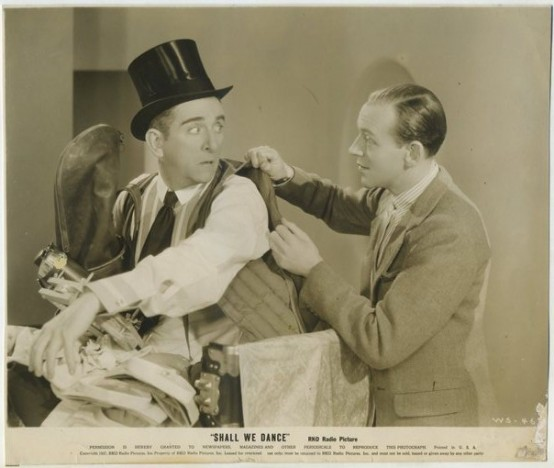 Edward Everett Horton and Fred Astaire in Shall We Dance