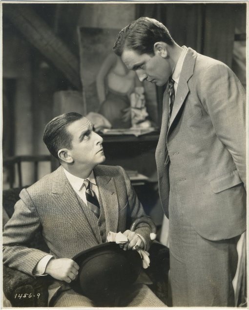 Edward Everett Horton and Fredric March in Design for Living