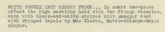 Mae Clarke 1930s MGM Promotional Photo caption