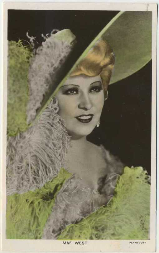Mae West Picturegoer Postcard