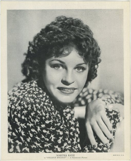 Martha Raye 1936 EMO Movie Club Portrait