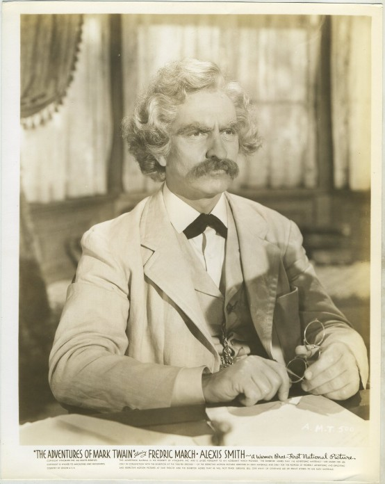 Fredric March in The Adventures of Mark Twain