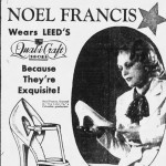 Clipping: Noel Francis Ad For Leed's Qual-i-craft Shoes, 1934