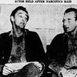 Clipping: Robert Mitchum Held on Narcotics Charge, 1948