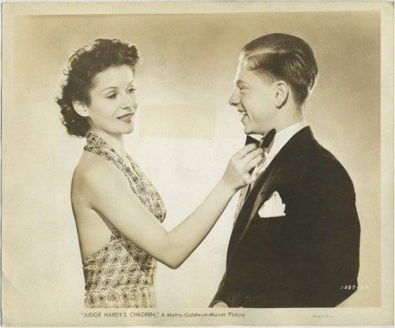 Jacqueline Laurent and Mickey Rooney in Judge Hardy's Children