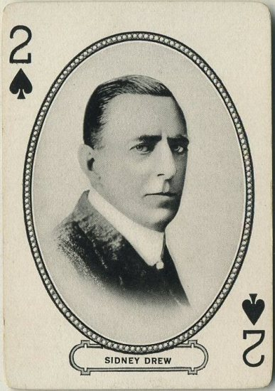 Sidney Drew 1916 MJ Moriarty Playing Card