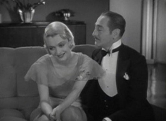 Constance Bennett and Adolphe Menjou in The Easiest Way
