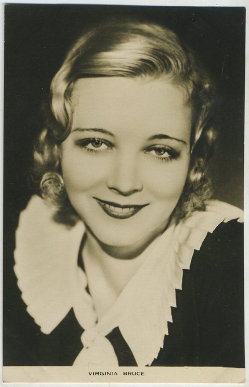 Virginia Bruce Film Weekly Postcard